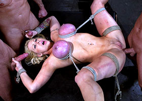 Group torture of submissive she asked for